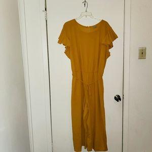 Avenue Mustard Body Jumpsuit Romper